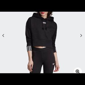 Adidas crop hoodie XL